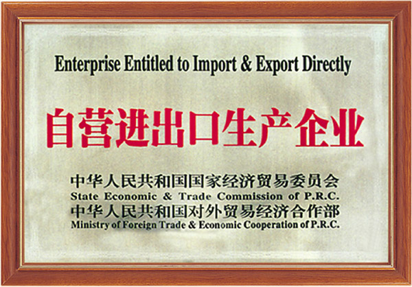 Import and export enterprises